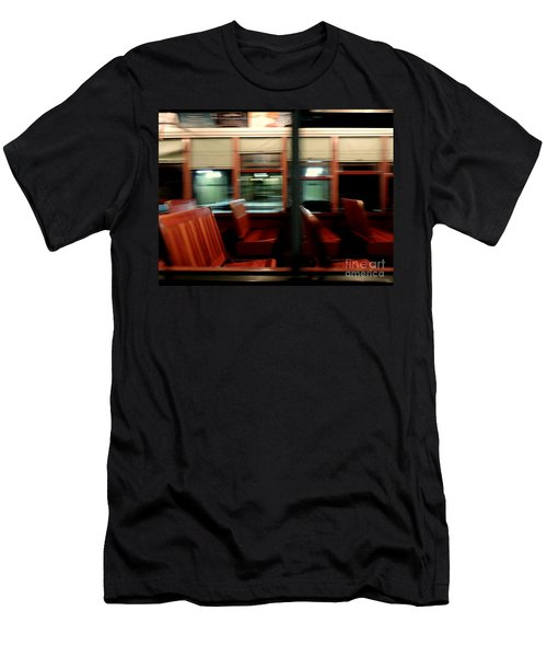 New Orleans Saint Charles Avenue Street Car In New Orleans Louisiana #6 Men's T-Shirt (Slim Fit) by Michael Hoard
