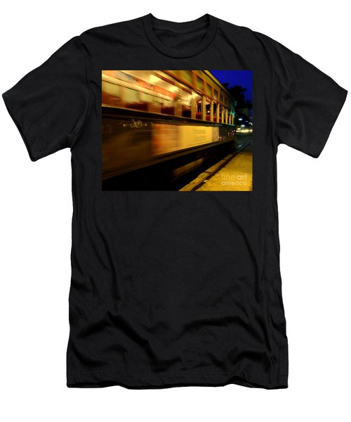 New Orleans Saint Charles Avenue Street Car In  Louisiana #7 Men's T-Shirt (Slim Fit) by Michael Hoard