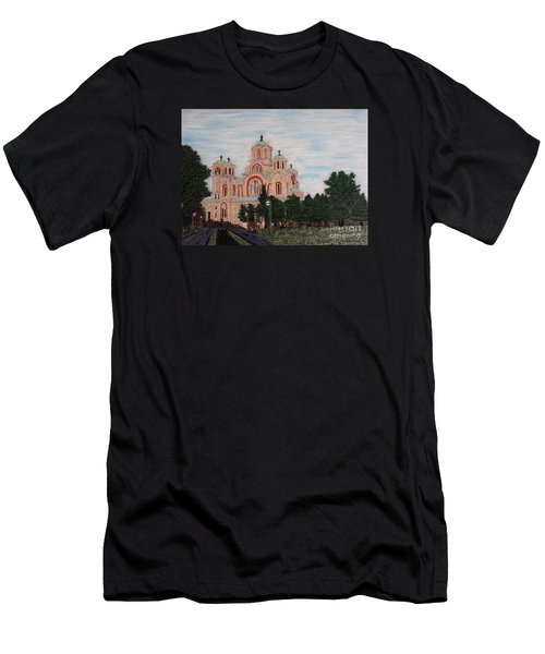 Saint Marko Church  Belgrade  Serbia  Men's T-Shirt (Athletic Fit)