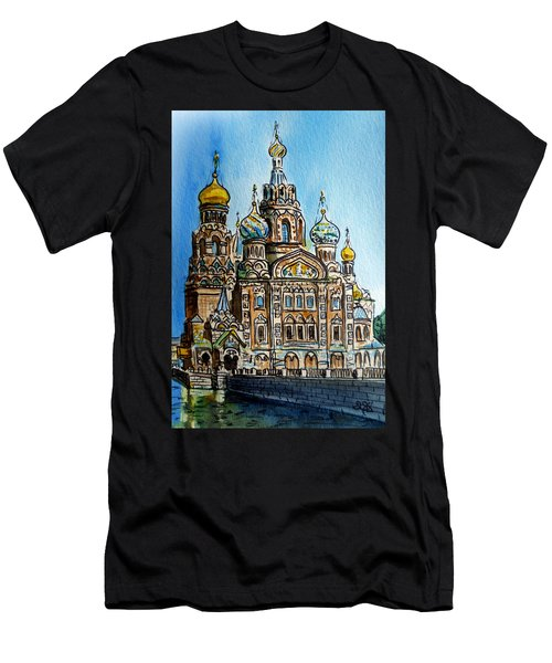 Saint Petersburg Russia The Church Of Our Savior On The Spilled Blood Men's T-Shirt (Athletic Fit)