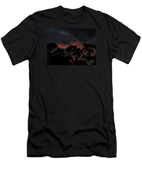 Men's T-Shirt (Slim Fit) featuring the photograph Salmon Sunset by Greg Patzer