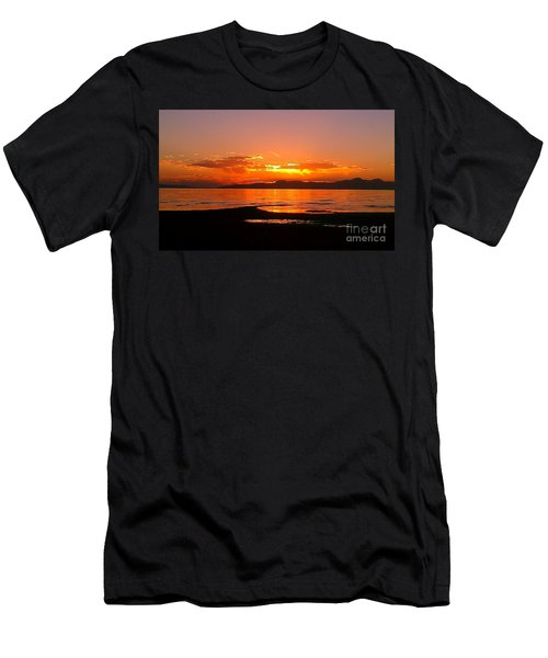 Men's T-Shirt (Slim Fit) featuring the photograph Salt Lakes A Fire by Chris Tarpening