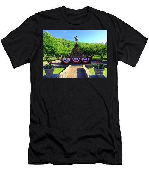 Men's T-Shirt (Slim Fit) featuring the photograph Salute To Our Hero's  by Becky Lupe
