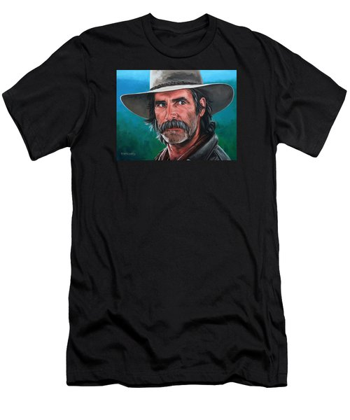Men's T-Shirt (Slim Fit) featuring the painting Sam by Rick McKinney