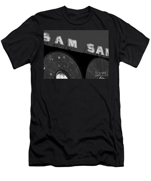 Sam The Record Man At Night Men's T-Shirt (Slim Fit) by Nina Silver