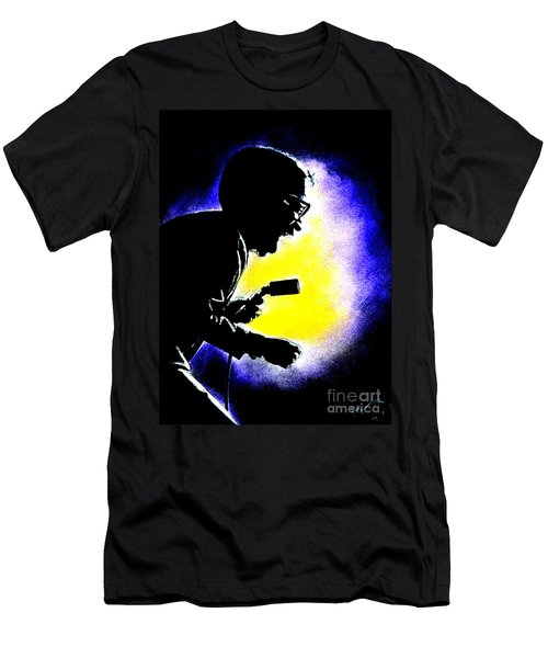 Sammy David Jr Singing His Heart Out Men's T-Shirt (Slim Fit) by Jim Fitzpatrick