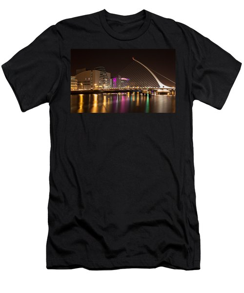 Samuel Beckett Bridge In Dublin City Men's T-Shirt (Slim Fit) by Semmick Photo