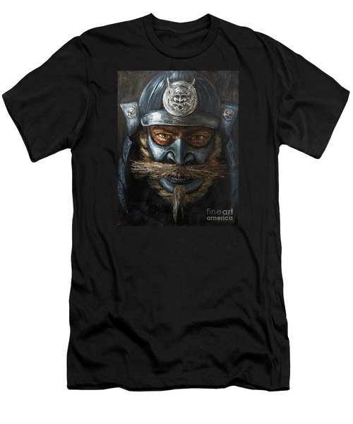 Men's T-Shirt (Slim Fit) featuring the painting Samurai by Arturas Slapsys