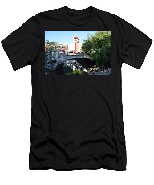 Men's T-Shirt (Slim Fit) featuring the painting San Antonio River 01 by Shawn Marlow