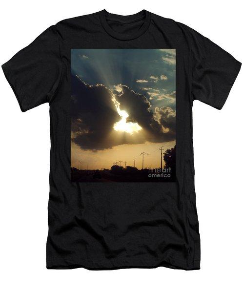 Men's T-Shirt (Slim Fit) featuring the photograph San Antonio Sunset by Peter Piatt