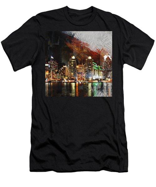 San Diego City Collage 3 Men's T-Shirt (Athletic Fit)