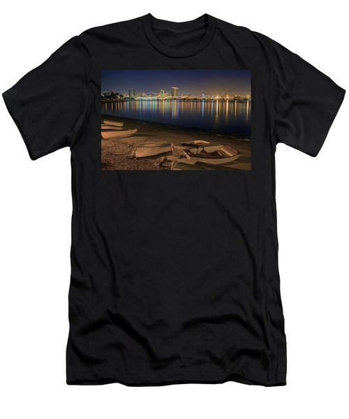 San Diego Harbor Lights Men's T-Shirt (Athletic Fit)