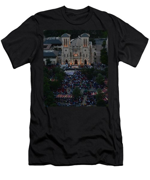 San Fernando Cathedral 001 Men's T-Shirt (Athletic Fit)