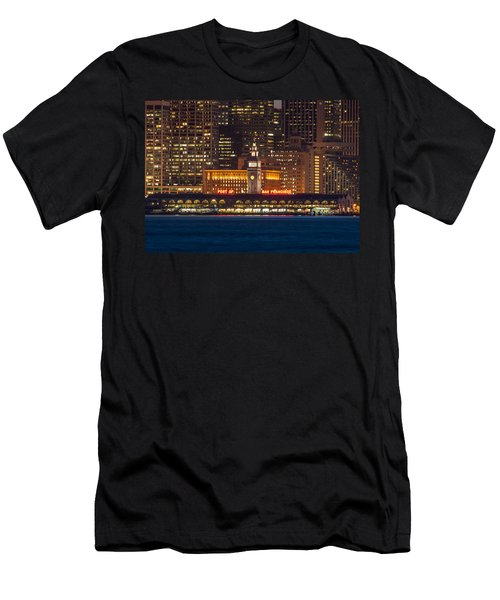 San Francisco Ferry Building At Night.  Men's T-Shirt (Athletic Fit)