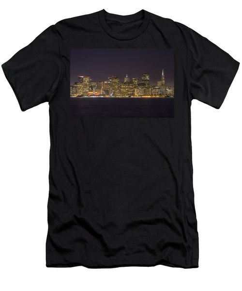San Francisco Nighttime Skyline 1 Men's T-Shirt (Athletic Fit)