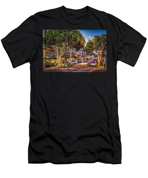 Men's T-Shirt (Athletic Fit) featuring the photograph Hdr Effect - San Francisco Street by Susan Leonard