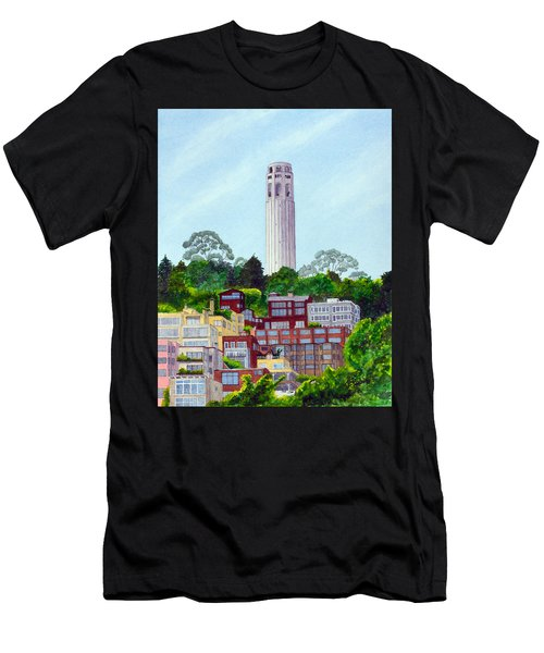 San Francisco's Coit Tower Men's T-Shirt (Athletic Fit)