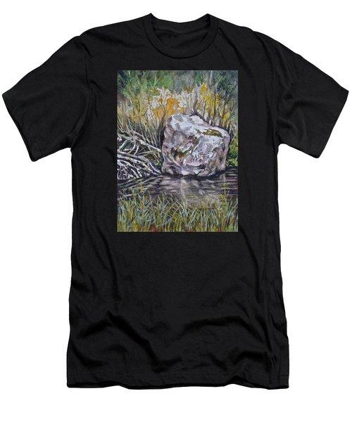 San Poil River Rock Men's T-Shirt (Athletic Fit)