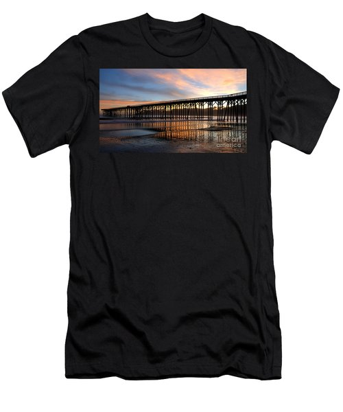San Simeon Pier Men's T-Shirt (Slim Fit) by Vivian Christopher