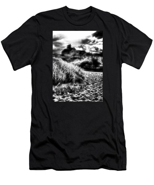 Men's T-Shirt (Slim Fit) featuring the photograph Sand In Ma Shoes by Robert McCubbin