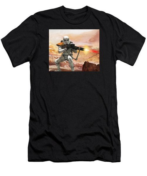 Sand Trooper - Star Wars The Card Game Men's T-Shirt (Athletic Fit)
