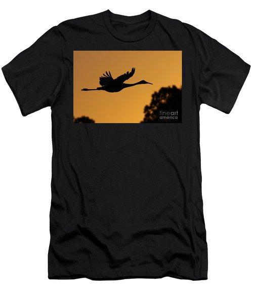 Sandhill Crane In Flight Men's T-Shirt (Athletic Fit)