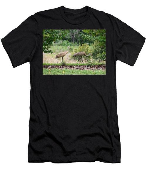 Sandhills Through The Crepe Myrtles Men's T-Shirt (Athletic Fit)