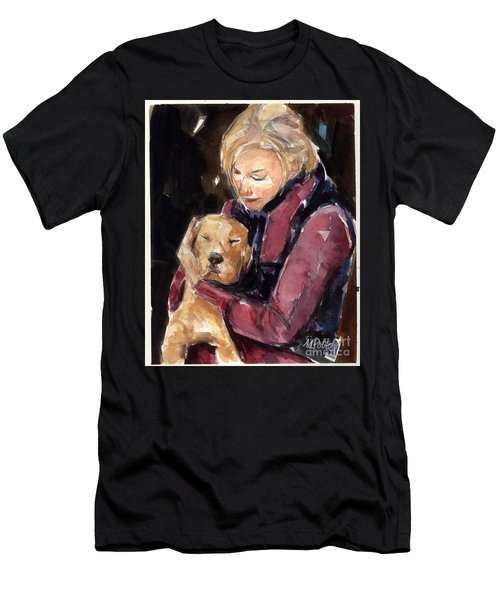 Sandy Grace And Me Men's T-Shirt (Slim Fit) by Molly Poole