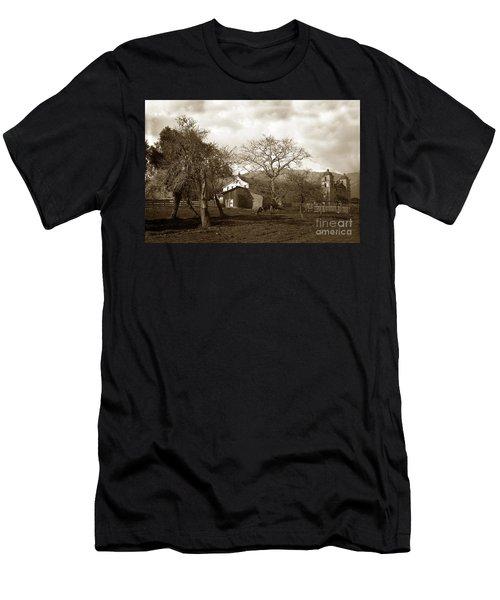 Santa Barbara Mission California Circa 1890 Men's T-Shirt (Athletic Fit)