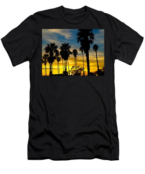 Santa Barbara Sunset Men's T-Shirt (Athletic Fit)