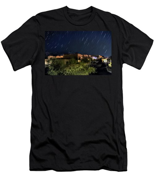 Men's T-Shirt (Slim Fit) featuring the photograph Santa Catalina Mountain Startrails by Dan McManus