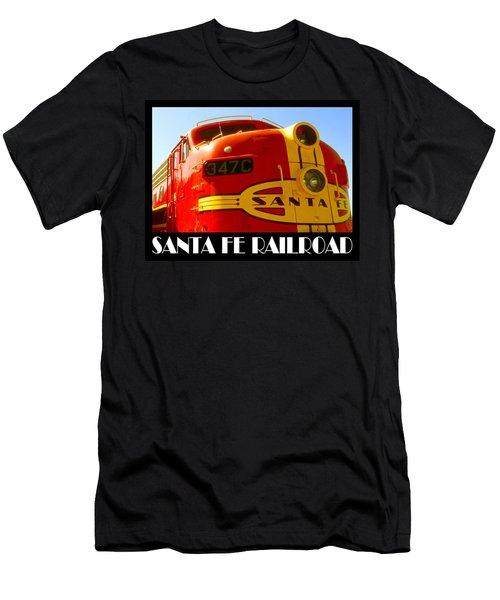 Santa Fe Railroad Color Poster Men's T-Shirt (Athletic Fit)