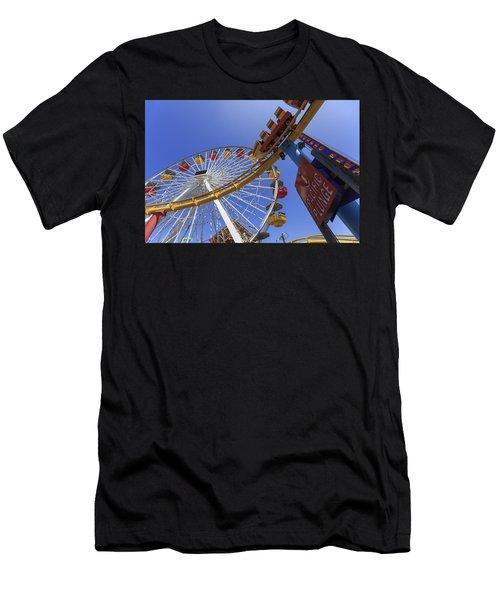 Santa Monica Pier Pacific Plunge Men's T-Shirt (Athletic Fit)