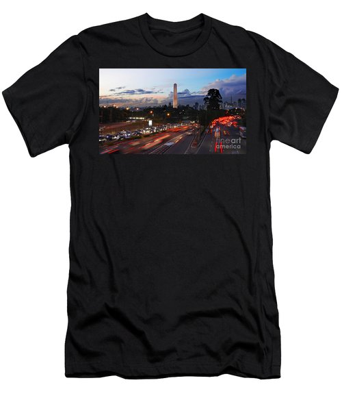 Sao Paulo Skyline - Ibirapuera Men's T-Shirt (Athletic Fit)