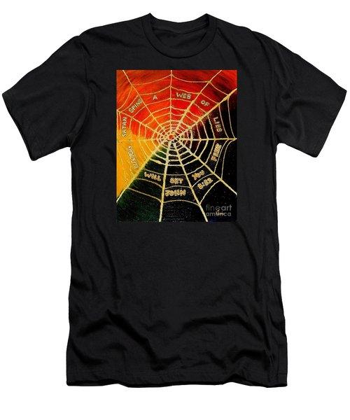 Satan's Web Of Lies Men's T-Shirt (Athletic Fit)