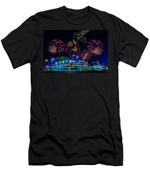 Men's T-Shirt (Athletic Fit) featuring the photograph Saturday Night At Coney Island by Chris Lord