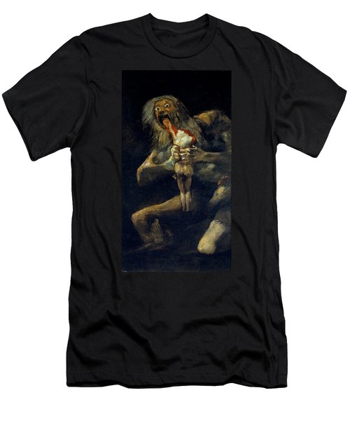 Saturn Devouring His Son Men's T-Shirt (Athletic Fit)