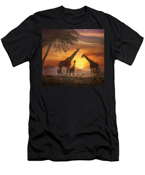 Savanna Sunset Men's T-Shirt (Athletic Fit)
