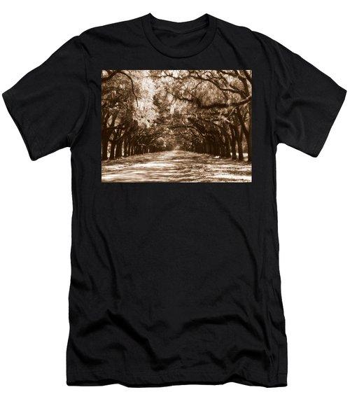 Savannah Sepia - The Old South Men's T-Shirt (Athletic Fit)