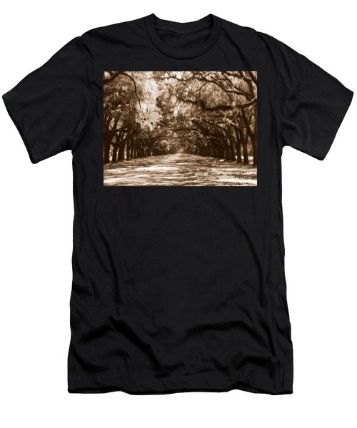 Savannah Sepia - The Old South Men's T-Shirt (Athletic Fit)