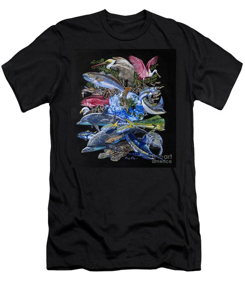 Save Our Seas In008 Men's T-Shirt (Slim Fit) by Carey Chen