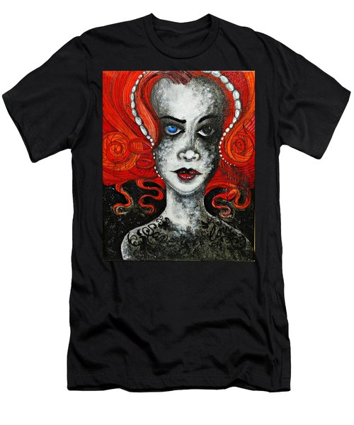 Men's T-Shirt (Slim Fit) featuring the painting Save Your Love by Sandro Ramani