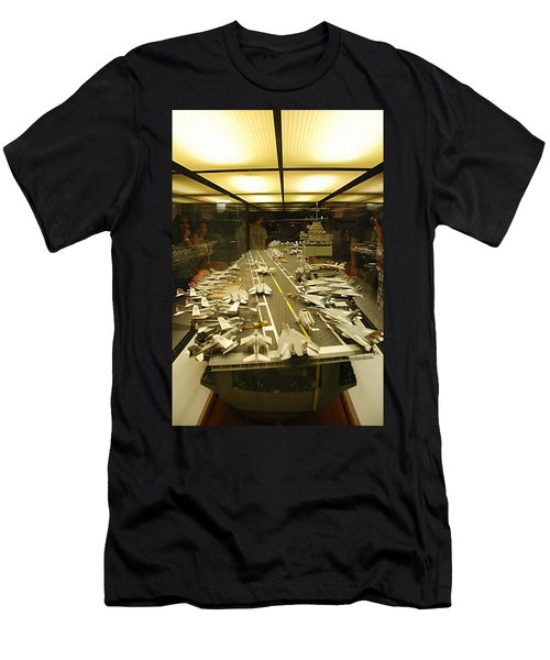 Scale Model Aircraft Carrier Men's T-Shirt (Athletic Fit)