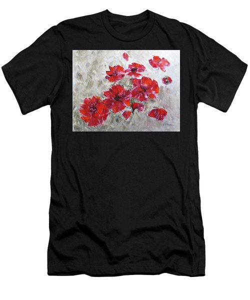 Scarlet Poppies Men's T-Shirt (Athletic Fit)