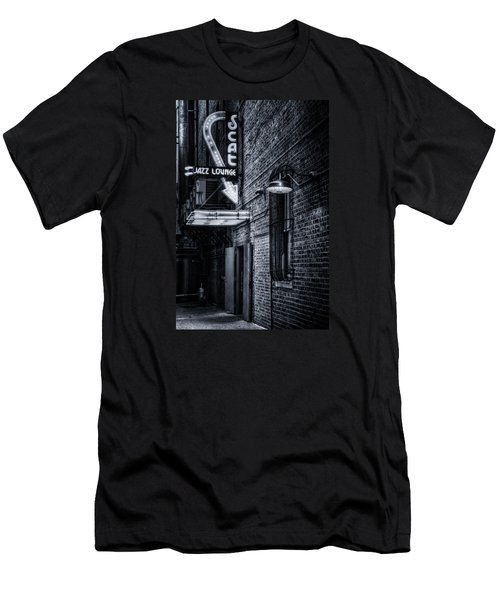 Scat Lounge In Cool Black And White Men's T-Shirt (Slim Fit)