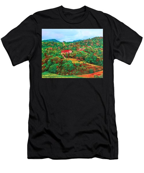 Scene From Mahogony Bay Honduras Men's T-Shirt (Athletic Fit)