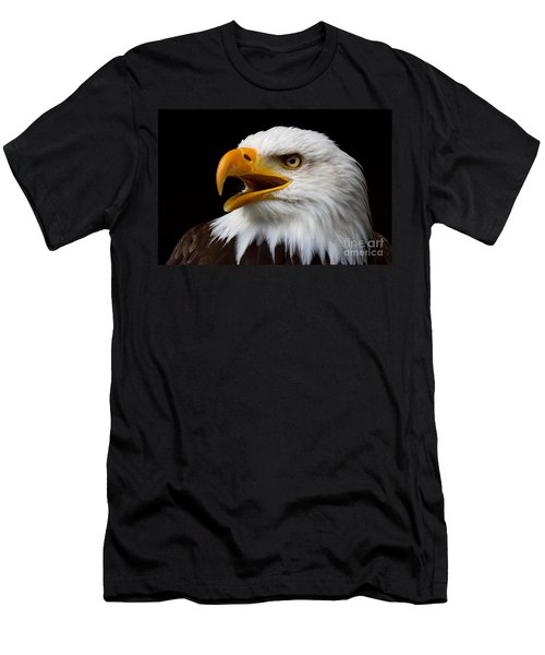 Screaming Bald Eagle Men's T-Shirt (Athletic Fit)