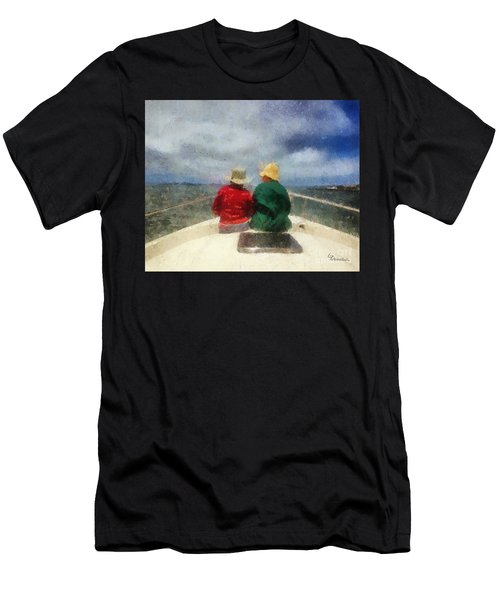 Sea Breeze 4 On The Bay Men's T-Shirt (Slim Fit) by Linda Weinstock