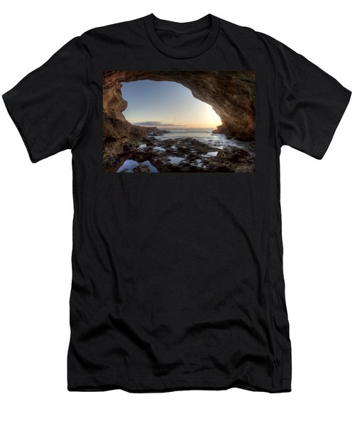 Sea Cave At Thousand Steps Beach Men's T-Shirt (Athletic Fit)