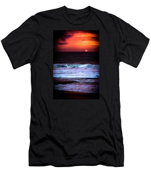 Sea Foam Under Fire Sky Men's T-Shirt (Athletic Fit)